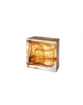 Glass HALF Brick AMBER