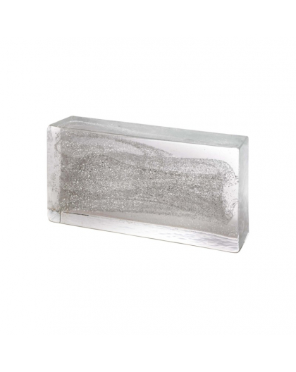 SILVER Glass Brick