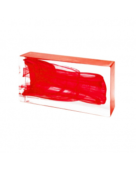 RED Glass Brick